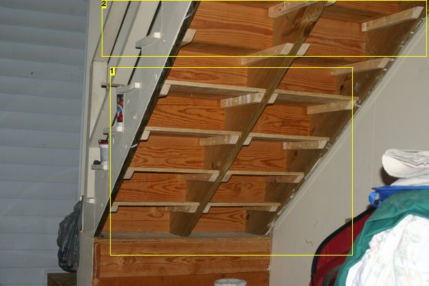 Diy Under Stairs Shelves Realistic House Pinterest