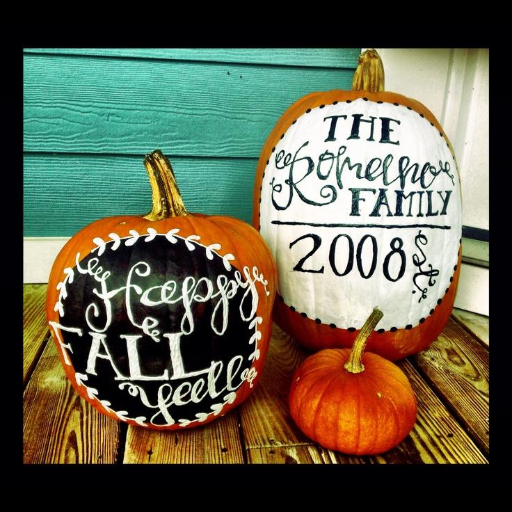 Painted Halloween Pumpkins Holidays Pinterest