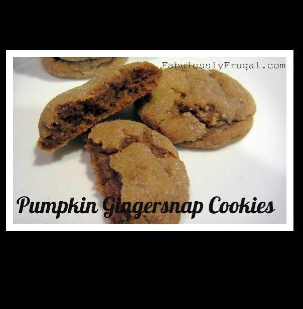 Pumpkin Gingersnap Cookies I've been keeping an eye out for pumpkin ...