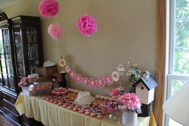 pink lemonade baby shower dessert bar a baby shower pinterest