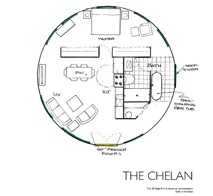 Yurt Floor Plans The Chelan Yurt Pinterest