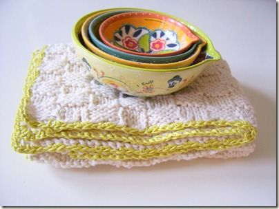 Easy Crochet Dish Cloth - The Crochet Crowd