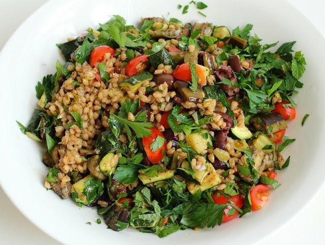Mediterranean Eggplant and Barley Salad | Vegetarian Dishes | Pintere ...