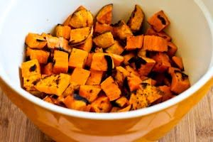 ... Grilled Sweet Potato Salad with Green Onion, Basil, Thyme, and Feta
