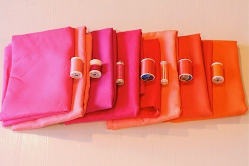 gorgeous mitre-edged linen napkins