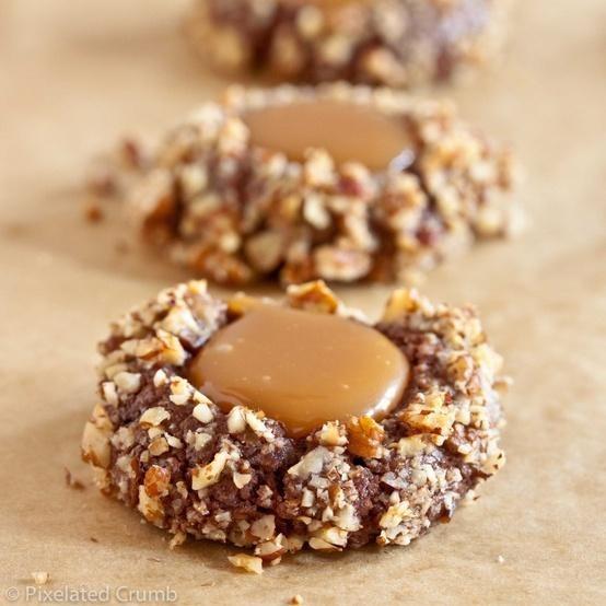 Chocolate Turtle Cookies | recipes | Pinterest