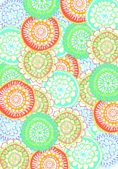 Pastel Pattern Frenzy Art Print