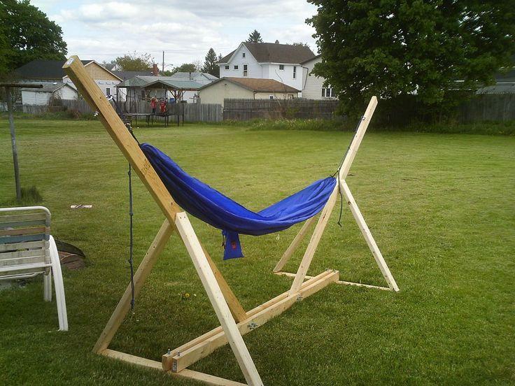 Backyard Hammock Stand : DIY Hammock Stand  For the Backyard  Pinterest