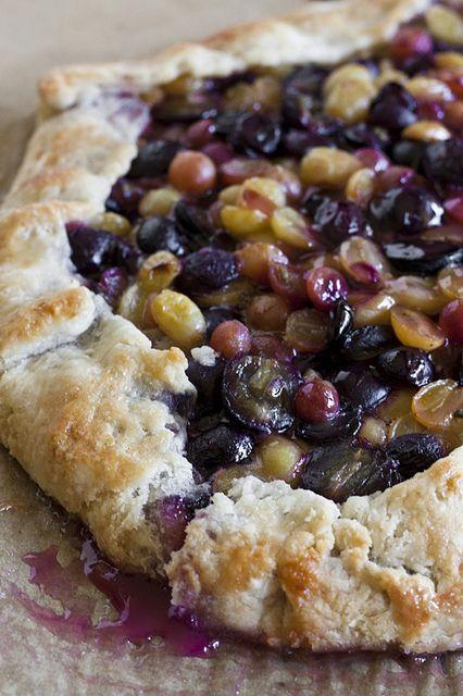 Grape and lavender galette | Amuse Bouche | Pinterest