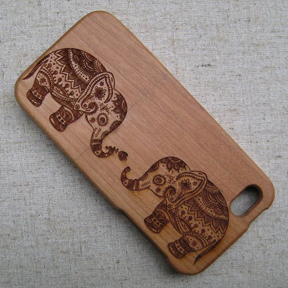 Customized, personalized,Natural wood case, iphone case, graphic engraved case for iphone 4/4s,5/5s/5c, Samsung s3/s4, Aztec elephant