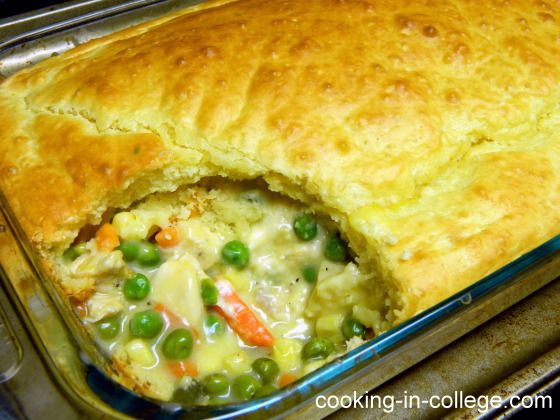 Easy Chicken Pot Pie — 2 cans of soup and pie crust instead of bread ...