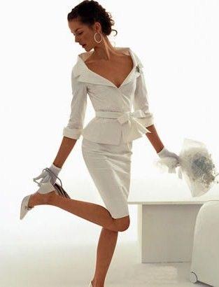 Two piece pencil wedding dress gorgeous pinterest for Pencil dress for wedding