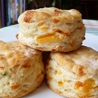 Cheddar-Scallion Biscuits. Is there gravy or just tons of creamy, soft ...