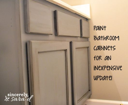 Painting Bathroom Cabinets For The Home Pinterest