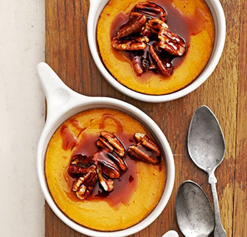 Sweet-Potato Spoon Bread with Caramel-Pecan Topping That's Perfect for ...