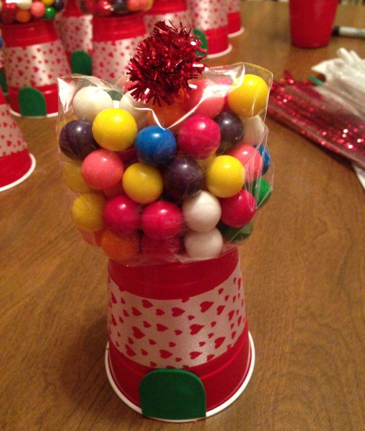 Valentine gumball machine | parties stuff | Pinterest