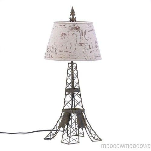 eiffel tower table lamp. Black Bedroom Furniture Sets. Home Design Ideas