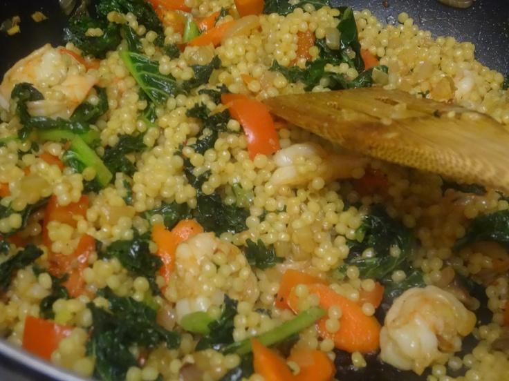 Easy shrimp and Israeli couscous | From the blog | Pinterest