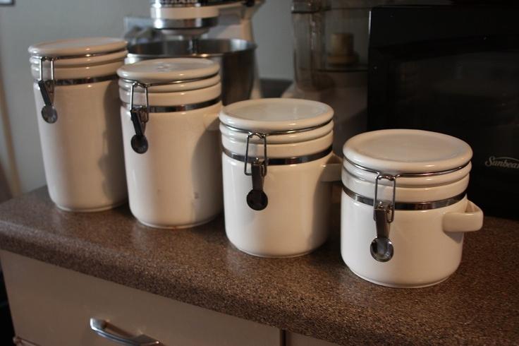 white ceramic kitchen canisters kitchen pinterest