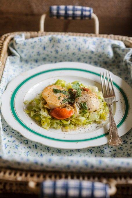 Creamy leeks with scallops | mmmmmmmmmmm | Pinterest