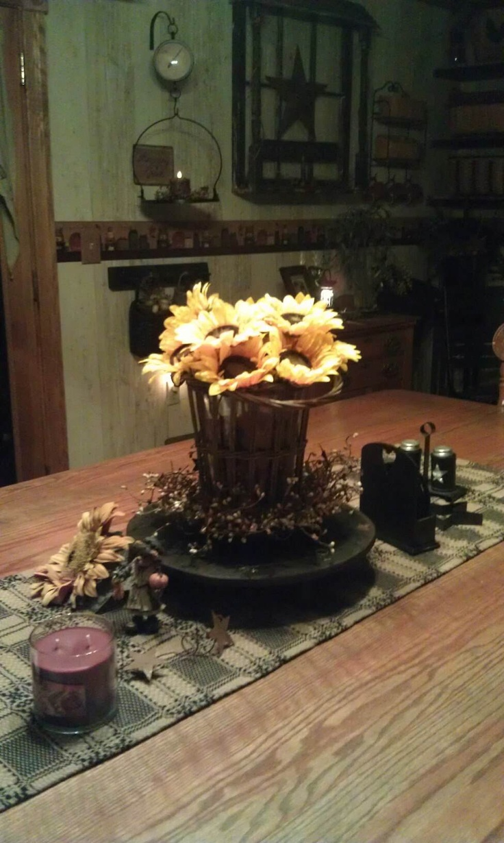 Fall primitive decor country living pinterest
