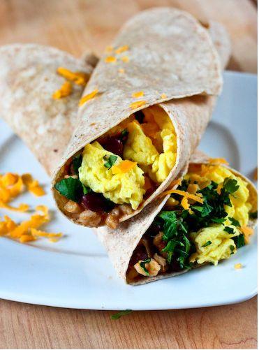 slow cooker vegetarian breakfast burrito | recipes | Pinterest