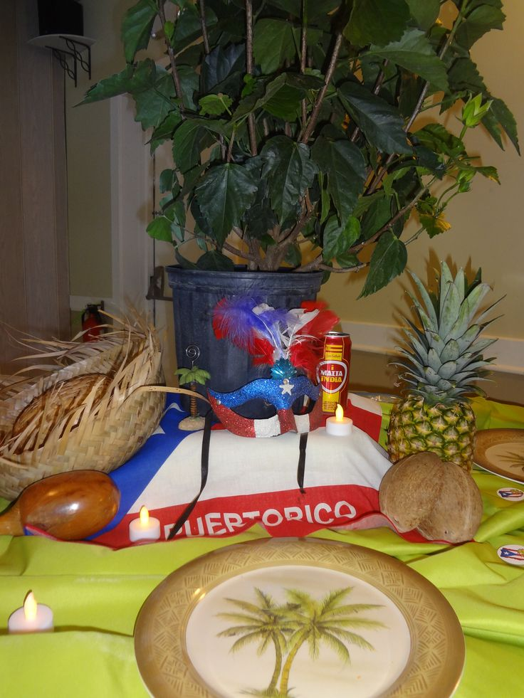 Puerto rican themed birthday party my creations on an for Acanthus decoration puerto rico