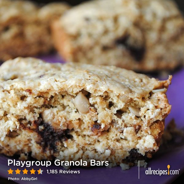 "Playgroup Granola Bars | ""Really really good! We did semi-sweet ..."