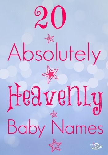 Ohhh, these baby names are absolutely heavenly http://thestir.cafemom.com/pregnancy/164277/20_heavenly_baby_names_perfect?utm_medium=sm&utm_source=pinterest&utm_content=thestir