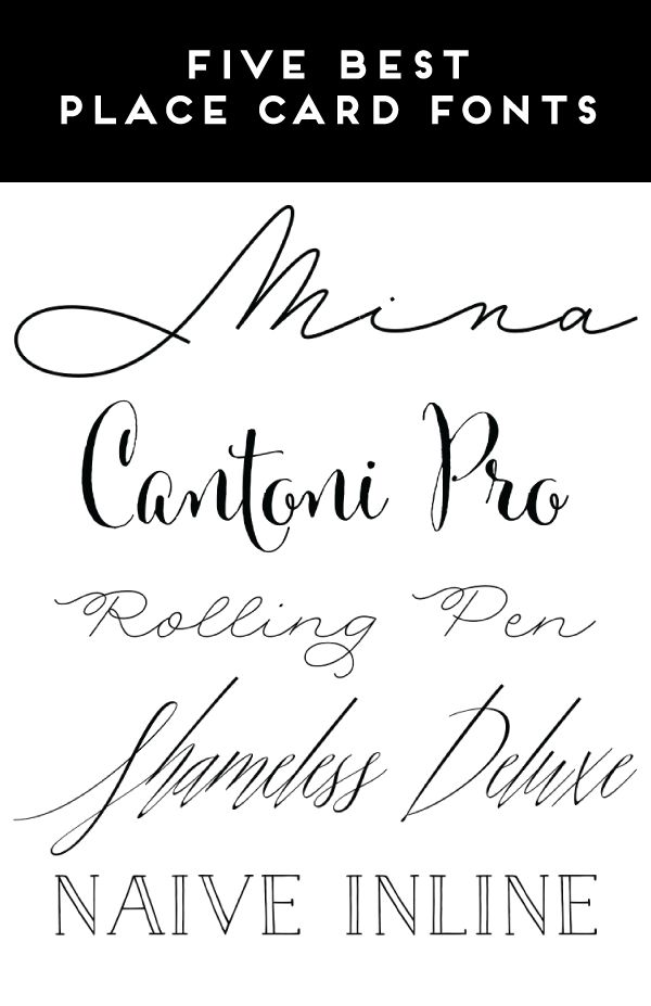 I know it says fonts for place cards but i really like the Best calligraphy fonts free