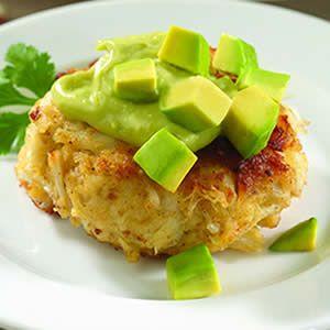 Crab Cakes with Avocado Aioli