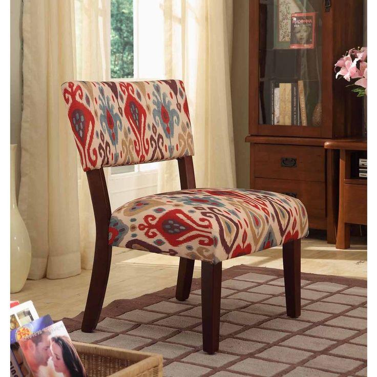 Best Multi Color Ikat Large Accent Chair 400 x 300