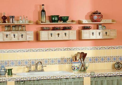 peach color kitchen | home design decor