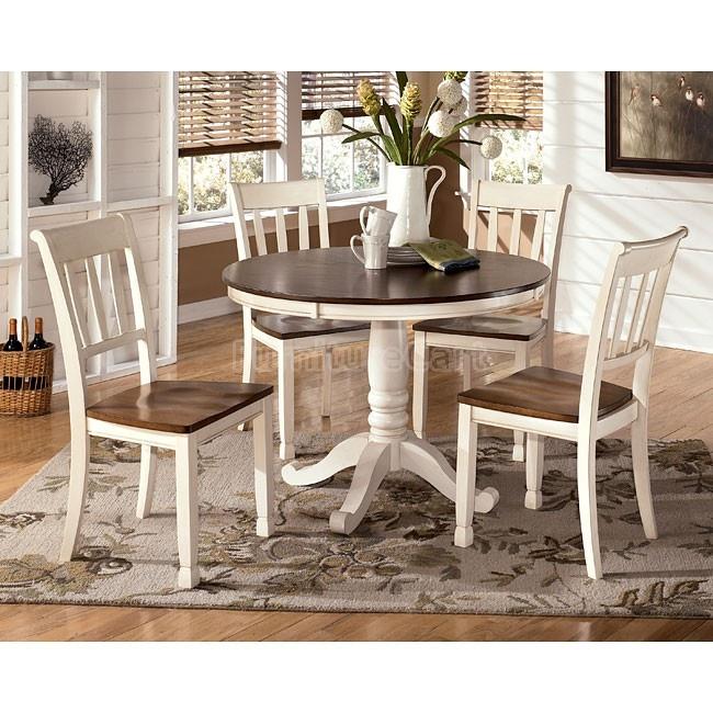Whitesburg Round Dining Room Set W 2 Chair Choices Details Bed Mattress Sale