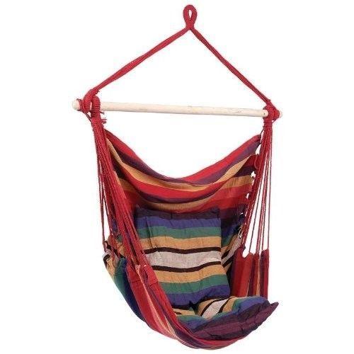 Hanging swing outdoor rope chair hammock indoor garden patio deck
