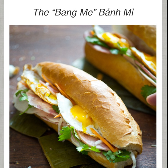 Fried egg banh mi, oh yes! | asian flava | Pinterest