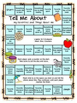 ... Perfect as 'getting to know you' games for the first days of school