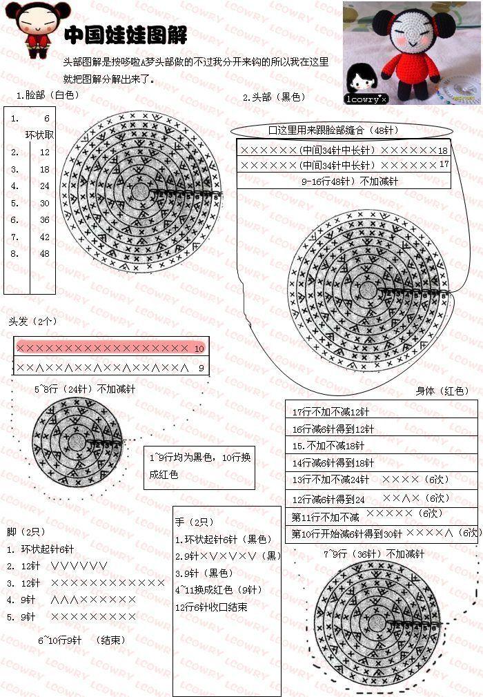 ... by Rosa Blanco on Amigurumi Free Japanese Chart Pattern Pintere