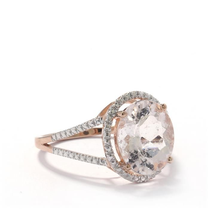 morganite ring in gold plated sterling silver 4 50cts