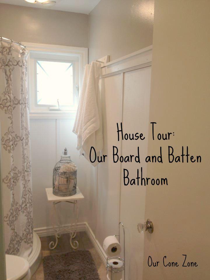 board and batten bathroom tour blog community most. Black Bedroom Furniture Sets. Home Design Ideas