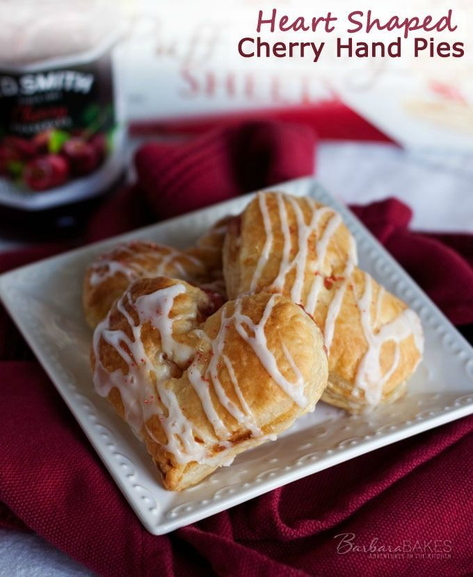 Heart Shaped Cherry Hand PIes. Sweet cherry preserves tucked in a fun ...