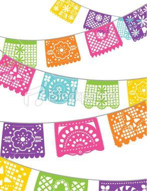 Papel Picado Banners Clip ArtZarape Clipart