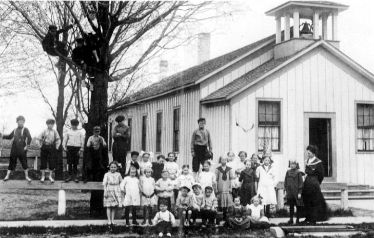 One-room School House in Michigan--man I bet it was a lot of work to be the only teacher in the school!