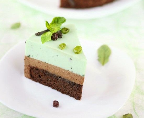 chocolate mint mousse cake
