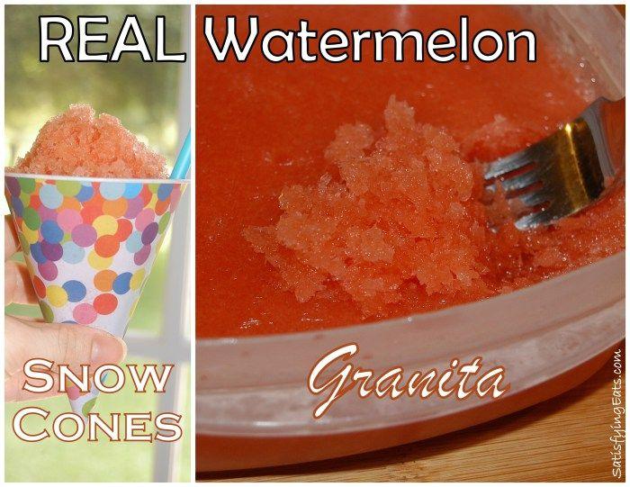 REAL Watermelon Snow Cones (Granita) | Primal/Paleo/Keto Desserts | P ...