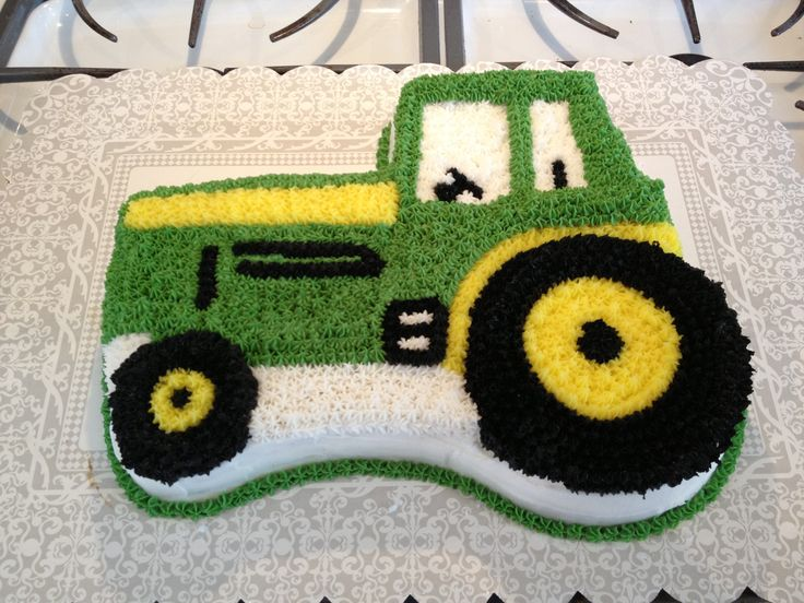 Tractor cake Party ideas- Tractor theme Pinterest