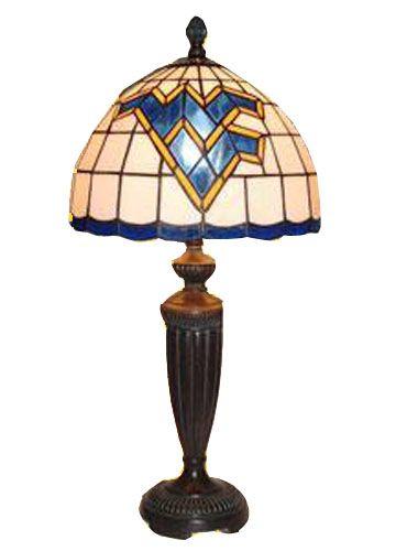 ARTGLASS DESK LAMP #bookexchangewv #wvu #mountaineers
