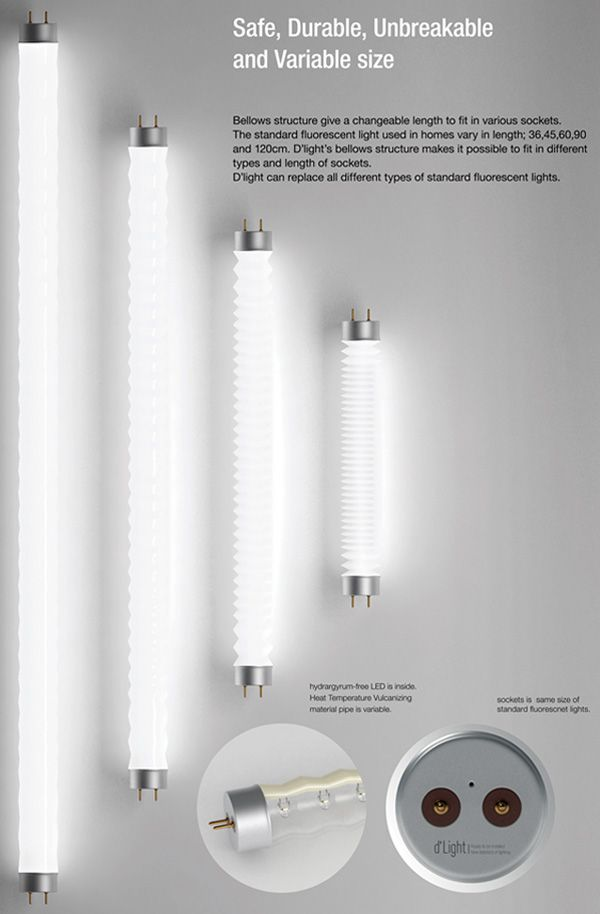 D'Light expandable tube lights...brilliant, literally.