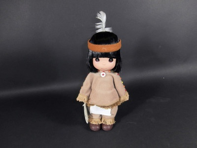 "1998 Precious Moments 8"" Indian Doll Little Sparrow Number 1558 Mint"