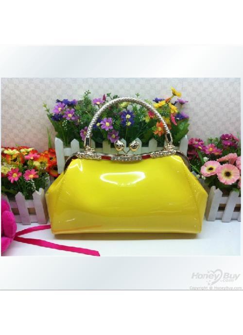 Women Yellow Hobo Leather Handbags Sale